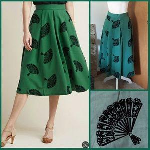 NWT Modcloth B. Jones Midi Pine Skirt Tatyana